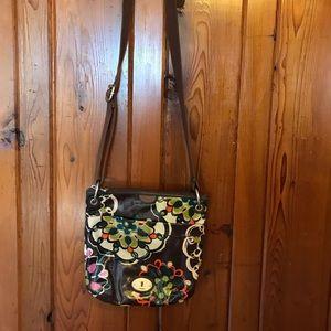 Fossil Key-Per Crossbody Floral Bag w/ keychain